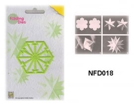 """NFD018 Nellie's Folding Die Kerstbal """"kleine ster"""""""
