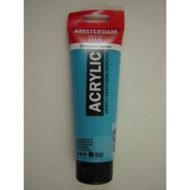 Amsterdam acrylverf tube 120ml Turkooisblauw 522