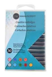 kalligrafie vullingen MC0402ASC 30 stuks 9 kleuren