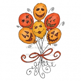 Whipper Snapper Cling Stamp  Halloween Balloons CU050