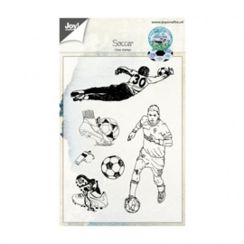 Joy!Crafts clear stempel voetbal 148x105mm  Artikelnummer: 6410/0447