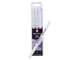 sakura gelly roll bright white set van 3- 0.3/0.4/0.5mm  SA404