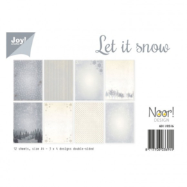 Joy!Crafts papierset A4 3x4 vel dubbelzijdig 200g let snow  Artikelnummer: 6011/0516