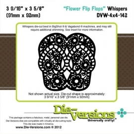 Die-Versions - Whispers - Flower Flip Flops DVW-4x4-142