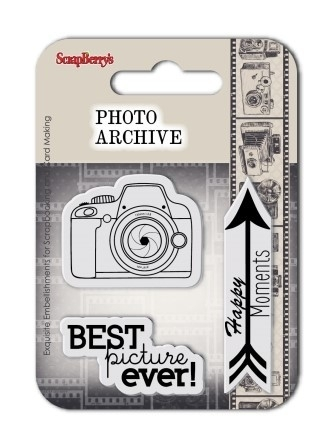 Set of clear rubber stamps 7*7 cm Photo Archive No. 1