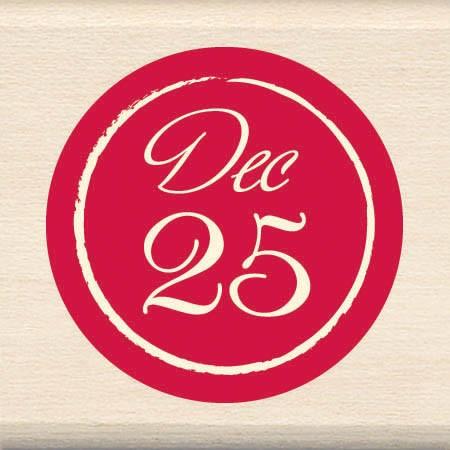 inkadinkado wood mounted rubber stamp 25 december60-00860