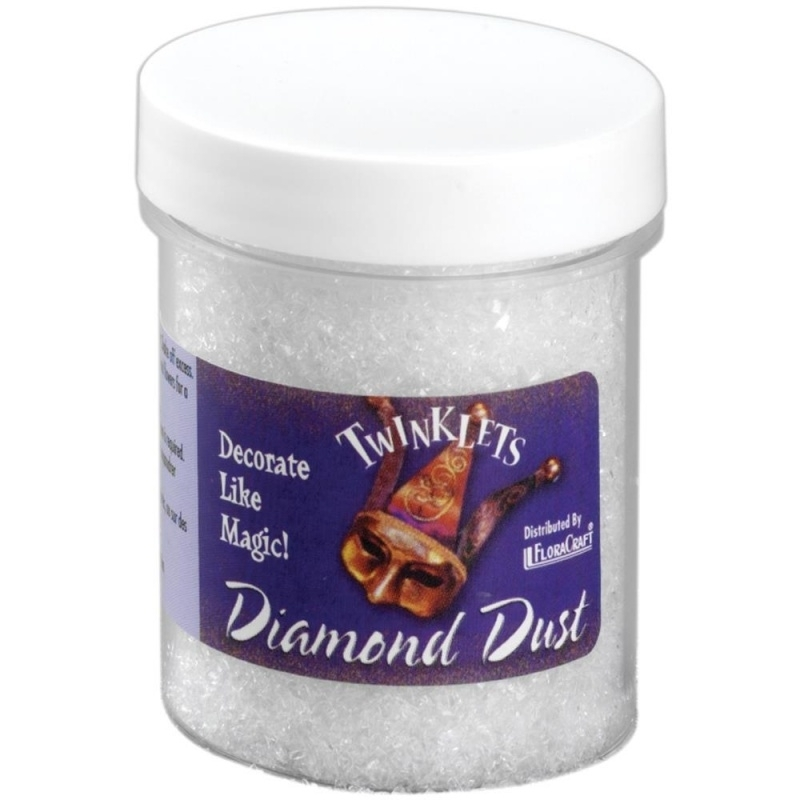 Twinklets Diamond Dust 3oz (85gram) Iridescent Flora Craft .