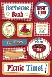 "Family Reunion/Picnic Cardstock Stickers 5.5""X9"