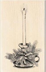 Inkadinkado Wood Mounted Rubber Stamp candle 60-00333