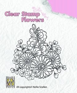 clear stamp flowers FLO010 Gerberas