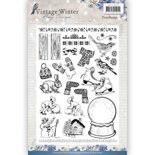 clear stamp vintage winter afbeeldingen adcs10021