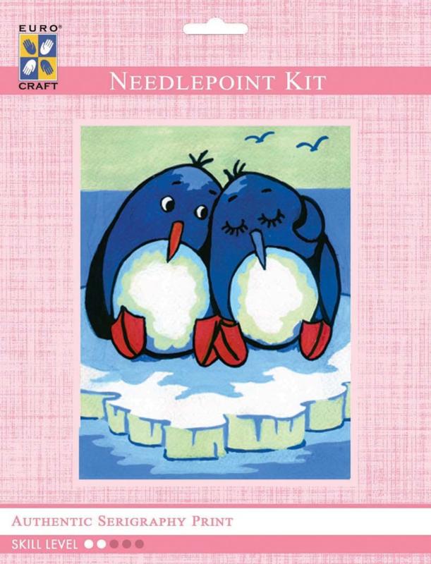 Needlepoint kit 14x18cm pinguins 3.206K