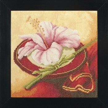 lanarte culture cross stitch borduurpakket flowers from the oriënt(1) 25x 25cm 35007