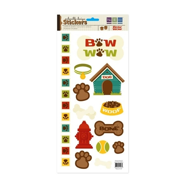 Embossible Design Stickers  BOW WOW 24 stickers 41247-2  34,5x15cm
