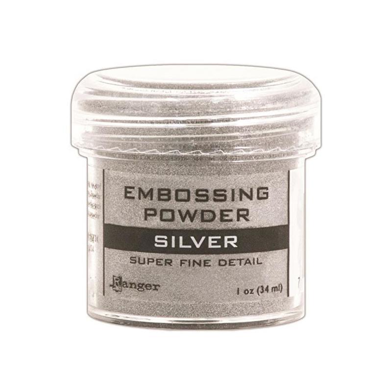 embossing powder zilver