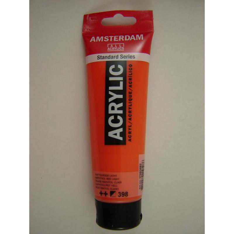 Amsterdam acrylverf tube 120ml naftolrood Licht 398