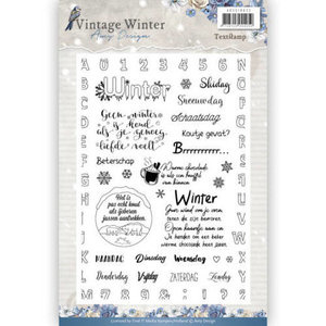 clear stamp vintage winter nederlandse teksten