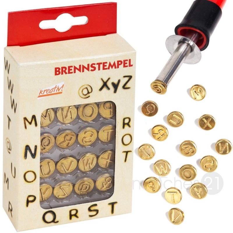 brandstempel set letters M-Z  20500