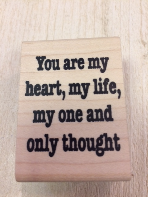 tekst stempel You are my heart,.......