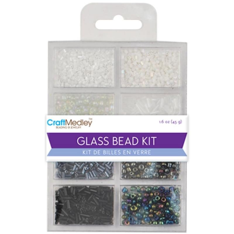 Craft medley Glass bead kit 45 gram  BD705A  B&W Classic