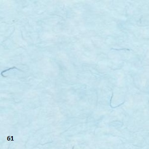 "Mulberry papier 25grams ""kozo""papier 64x47 cm licht blauw (gevouwen naar ca. 21.5x15.5cm)"