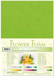 flower foam A4 Yellow green 25.4308