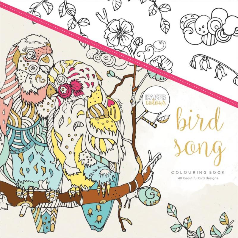 kleurboek Kaisercraft Bird Song