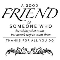 Woodware Clear Stamps  good friend FRS 133  AKTIE!!!!