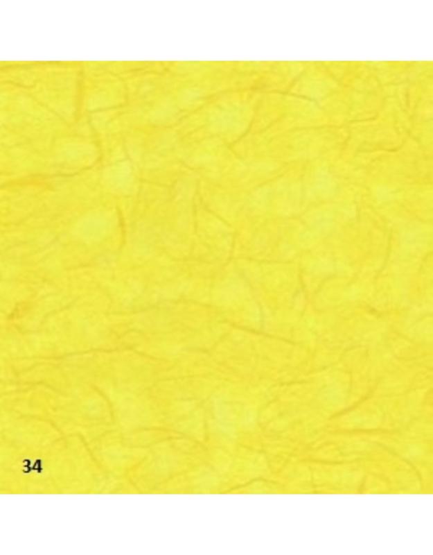 Mulberry papier kozo, 25 grams 64x47cm geel (gevouwen naar ca.21x15cm)
