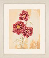 lanarte home & garden cross stitch borduurpakket dream poppy 33x42cm 35013