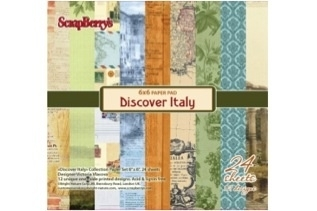 Set of paper for scrapbooking 15x15 cm 170 GSM Discover Italy, 24 sheets 220605010