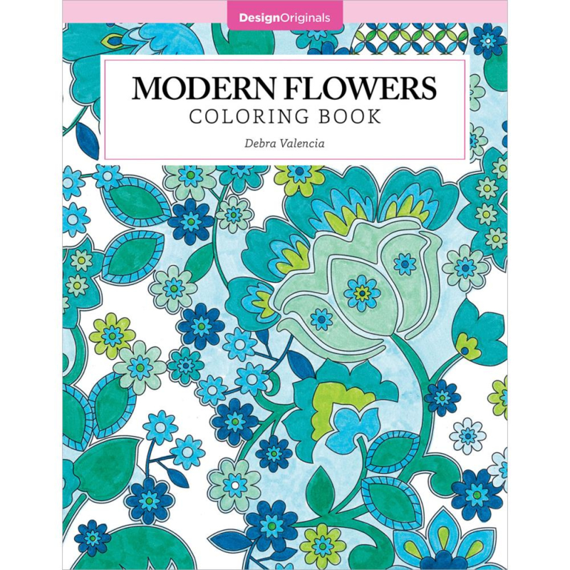 kleurboek Design Originals Modern flowers