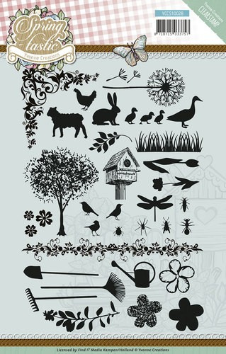 clear stamp spring fastic afbeeldingen yccs10028