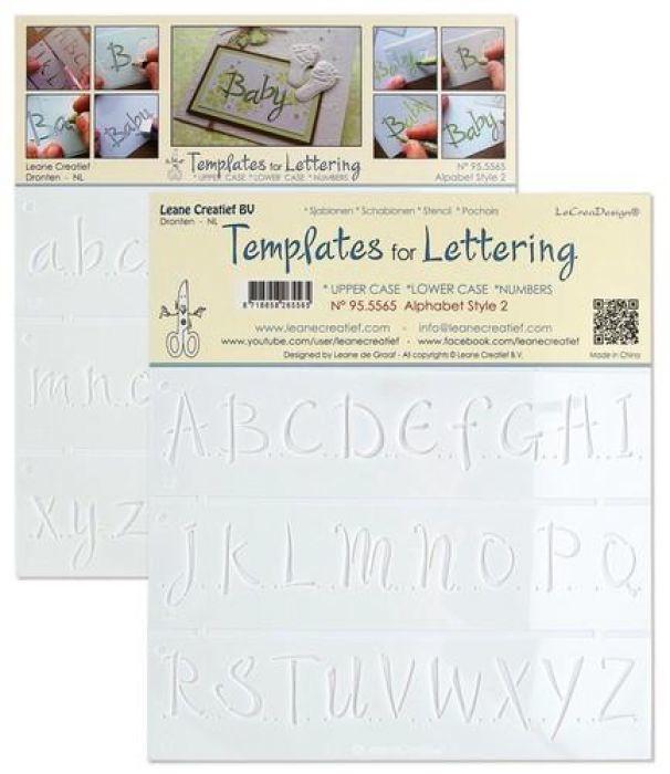 templates voor handlettering Alphabet style 2 *upper case*lower case*numbers 95.5565 NIEUW!!!!!