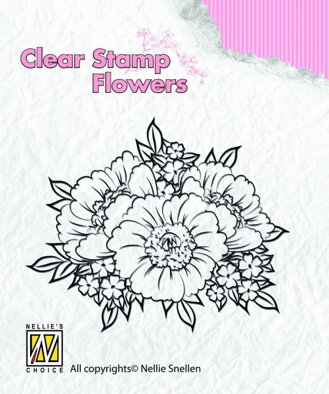 Clear stamp flowers FLO011  Anemones