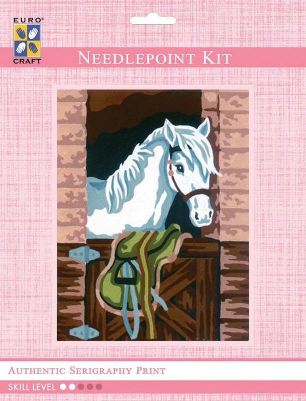 Needlepoint kit 14x18cm paard 3.165K