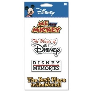 DJBV15  STICKER PVC WORDS DISNEY