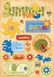 "Summer Cardstock Stickers 5.5""X9"