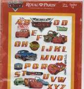 coats Royal Paris counted cross borduurpakket Abecedaire Cars 35x45cm 9886443-00022
