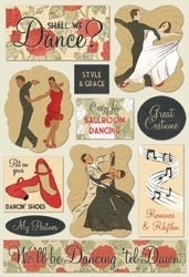 "Dance Cardstock Stickers 5.5""X9"