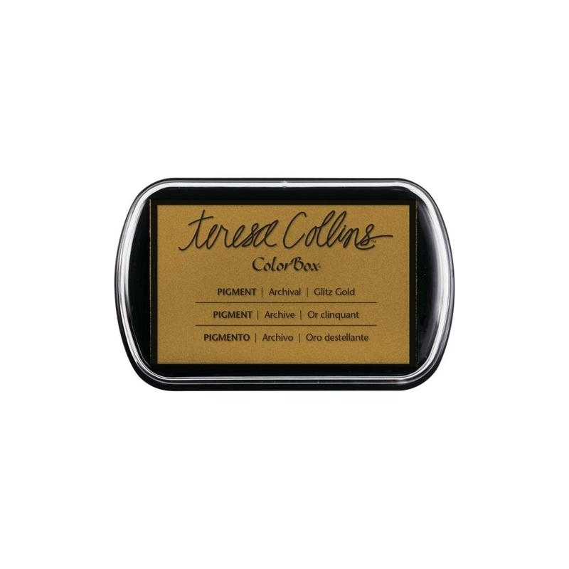 Teresa Collins Pigment Ink Pad Glitz Gold TC1550 4