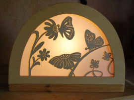 Vlinder silhouet
