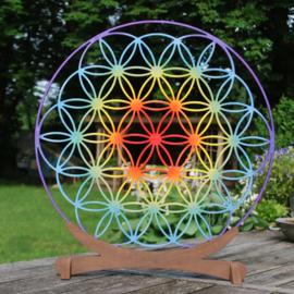 Mandala decoratie Flower of Life (multikleur)