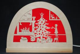 Vrolijk kerstfeest silhouet
