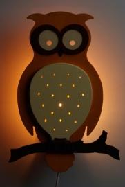 Bosuil wandlamp