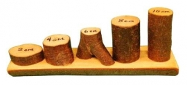 Boomblokken met schors 36 stuks geolied