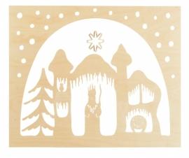 Staande decoratie  Koning Winter