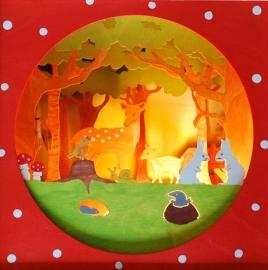 Hertjes in het bos lampje