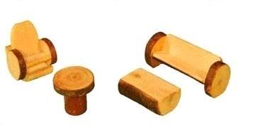 Boomblok meubeltjes huiskamer