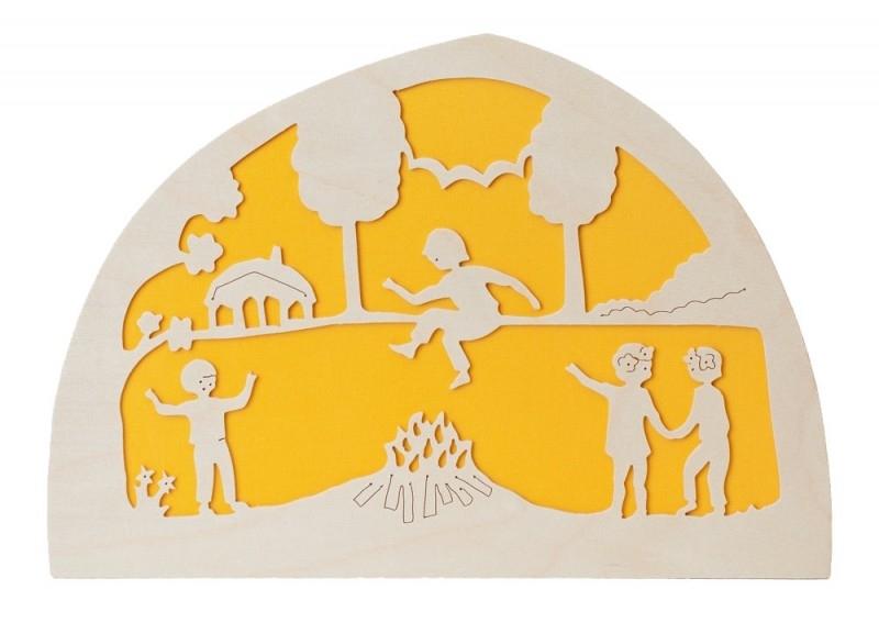 Sint Jansfeest silhouet